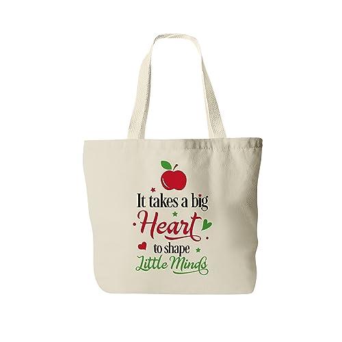 a6397281cac Amazon.com  Teacher Tote Bag - Gift for Teacher - Canvas Bag  Handmade