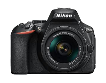 Nikon D5600 DX-format Digital SLR w/ AF-P DX NIKKOR 18-55mm f/3. 5-5. 6G VR Digital SLRs at amazon