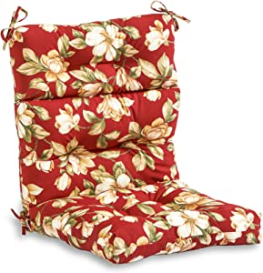 South Pine Porch AM4809-ROMA Roma Floral Outdoor High Back Chair Cushion
