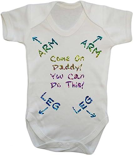Slogan Baby Vest Strong Like Daddy Bodysuit New Dad Newborn Gift 100/% Cotton