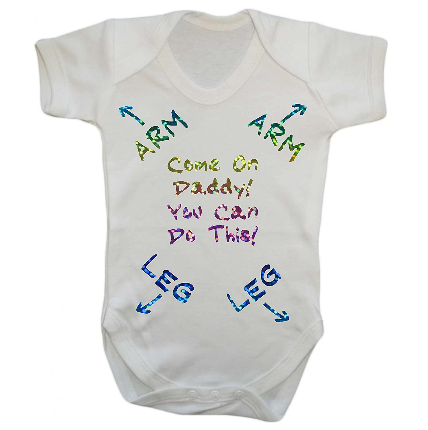Come On Daddy You Can Do This New Dad Baby Grow Vest Bodysuit