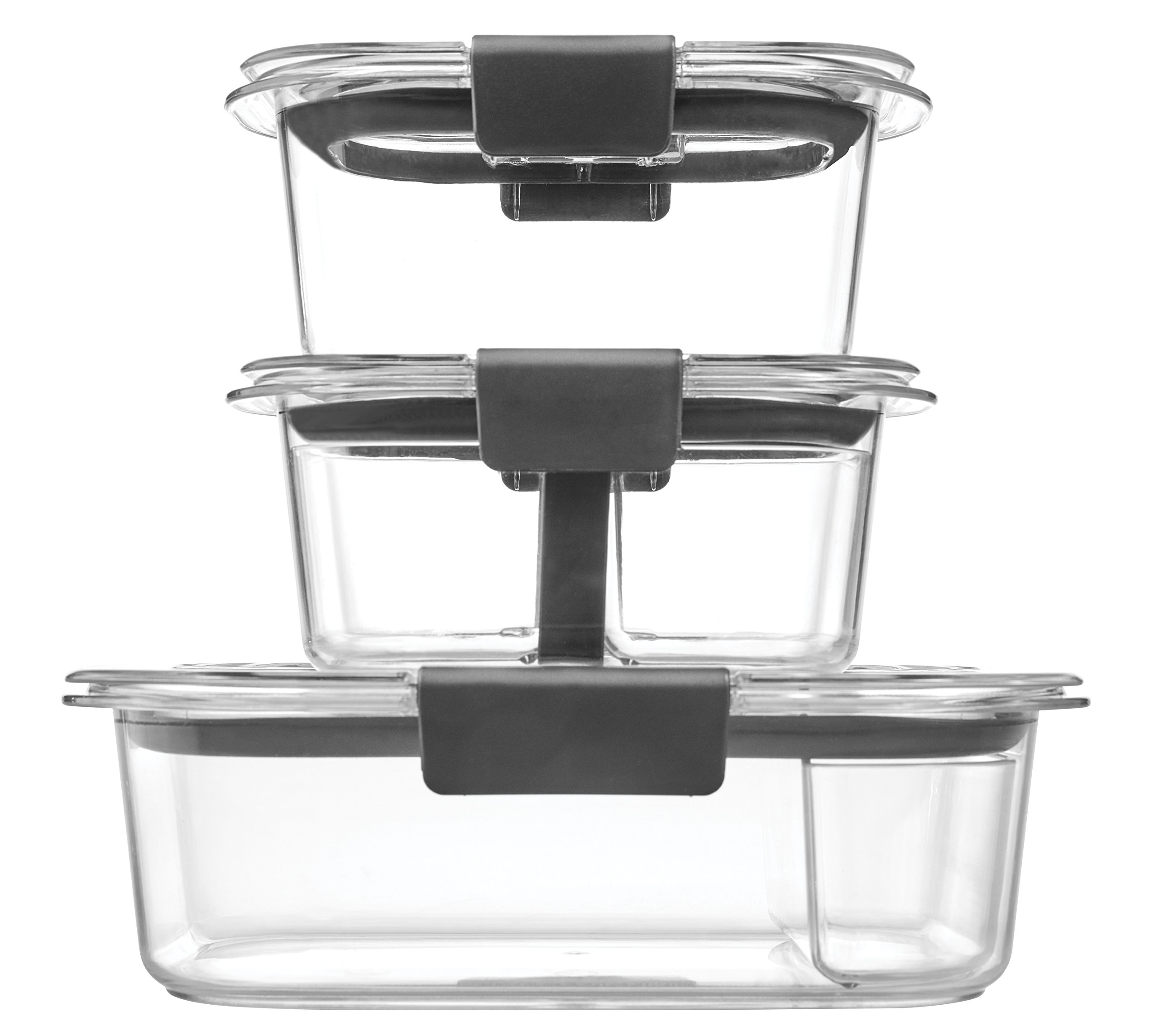 Rubbermaid Brilliance Food Storage Container, Sandwich and Snack Lunch Kit, Clear, 10-Piece Set 1997842 by Rubbermaid (Image #5)