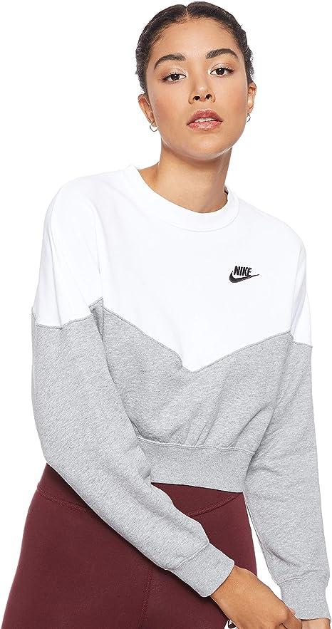 Nike Damen W Nsw Hrtg Crew Flc ar2505 Long Sleeved T shirt