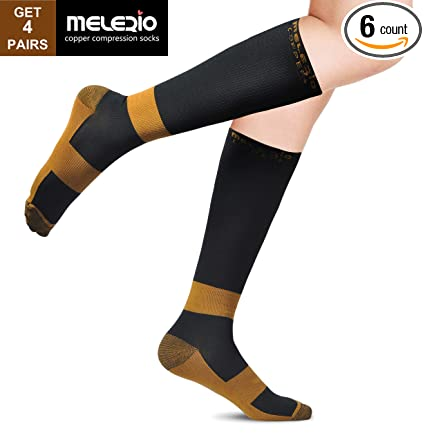 91b052154d Compression Socks with Copper Fibers for Men and Women, Ideal Gift Sock for  Edema,