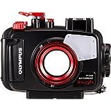 Olympus - Caisson étanche PT-058 pour Appareil Photo numérique TG 5, Noir/Rouge