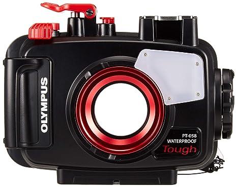 Olympus PT-058 - Carcasa acuática para cámara Tough TG-5, Color Negro