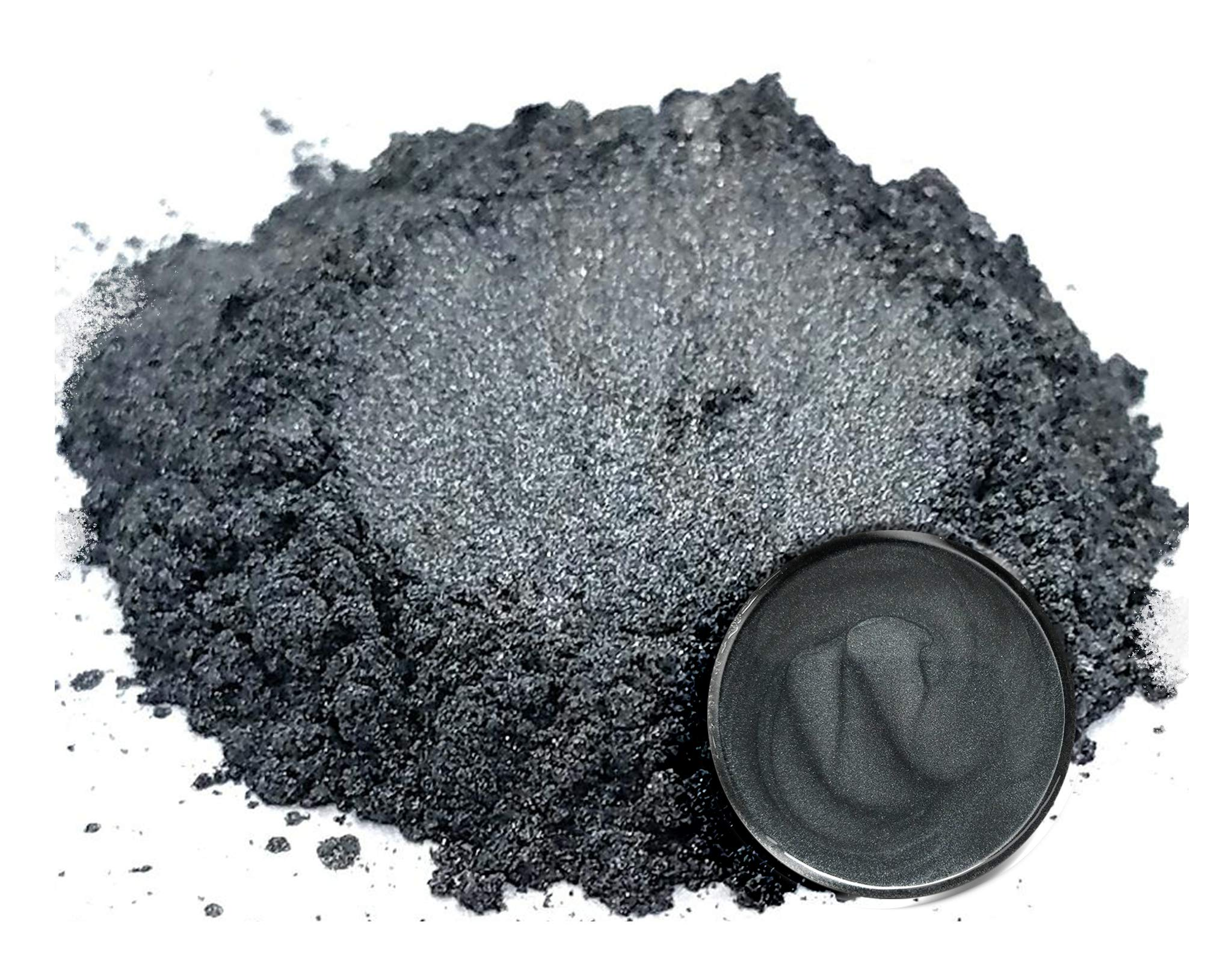 Eye Candy Mica Powder Pigment ''Katana Grey'' (50g) Multipurpose DIY Arts and Crafts Additive | Woodworking, Epoxy, Resin, Natural Bath Bombs, Paint, Soap, Nail Polish, Lip Balm by Eye Candy