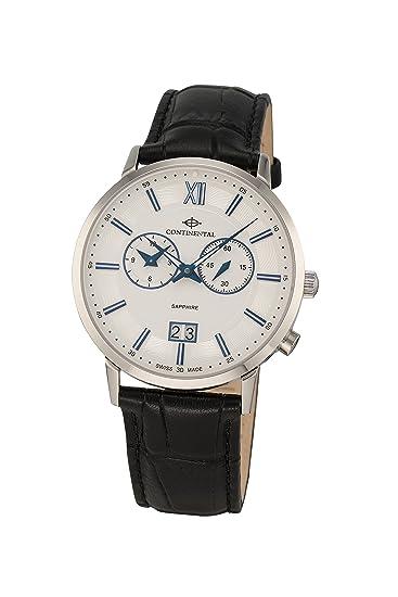 Continental - 15202-gm154110 - Swiss Made - Reloj de cuarzo para hombre con doble zona horaria y cristal de zafiro: Amazon.es: Relojes