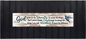 Cottage Garden God Grant Me The Serenity Decorative Black 22 x 8 Panoramic Wall Photo Frame Plaque