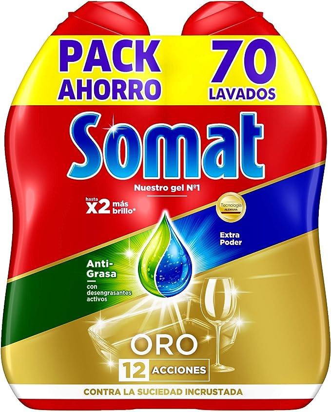 Somat Oro Gel Deteregente Lavavajillas Antigrasa - 100 Lavados ...
