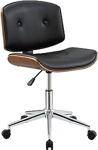 ACME Furniture Camila Office Chair, Black PU/Walnut