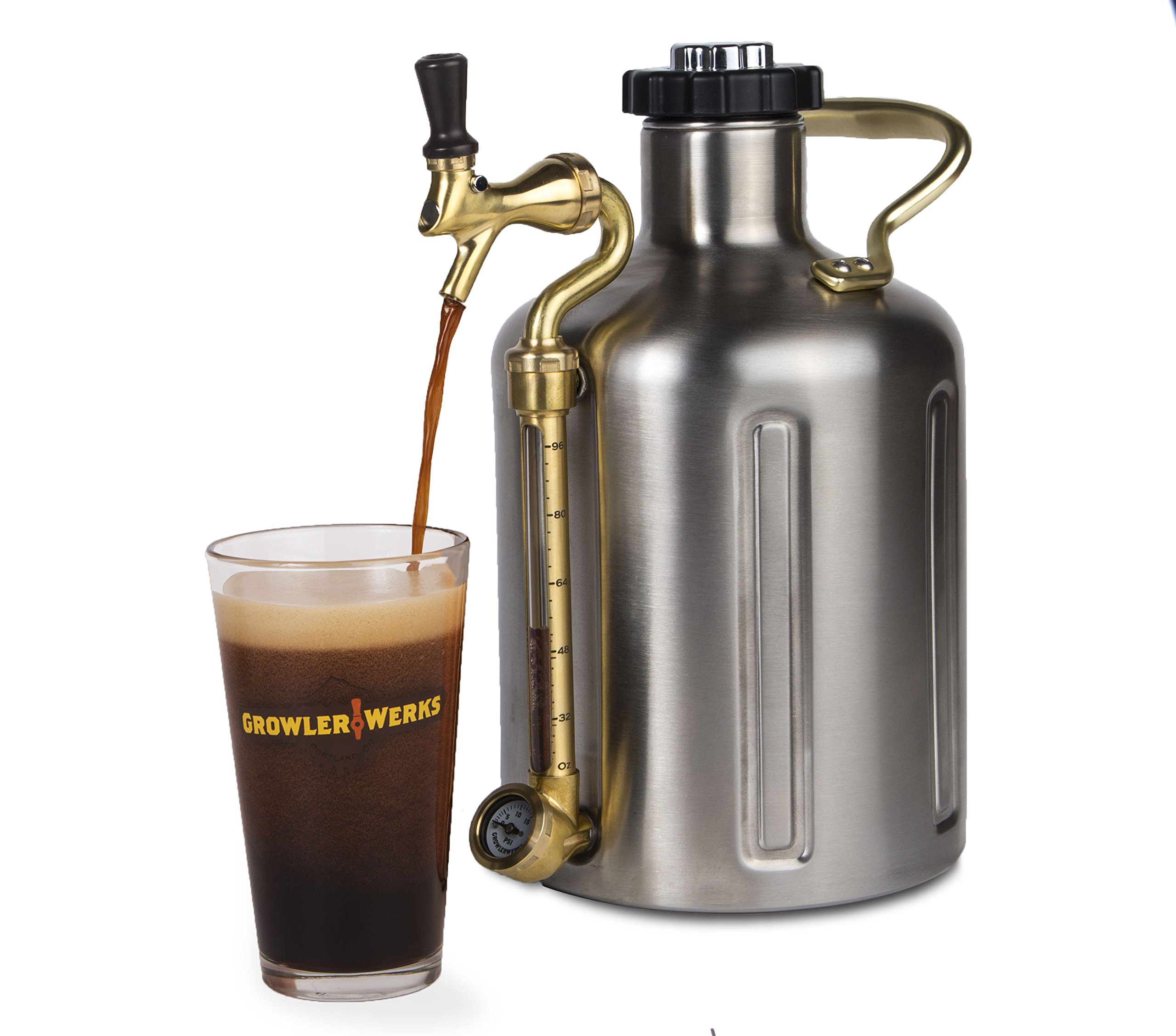 GrowlerWerks uKeg 128 Pressurized Growler for Craft Beer by GrowlerWerks