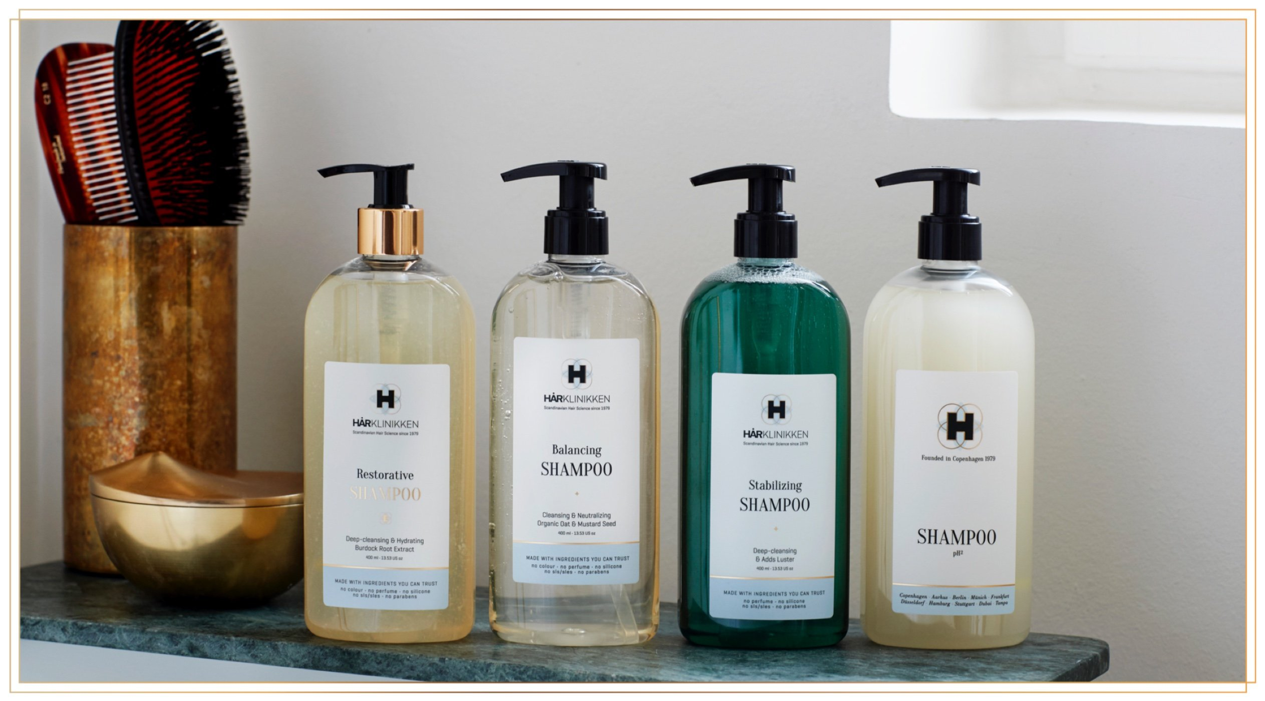 Harklinikken Advanced Cleansing & Treatment Set | 8.45 Oz. Balancing Shampoo & 8.45 Oz Restorative Shampoo | When washing daily: Alternate Product - For All Hair Types - Natural & Plant-Based by Harklinikken (Image #6)