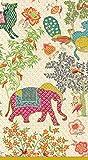 Caspari Entertaining 15-Pack Le Jardin De Mysore Guest Towels
