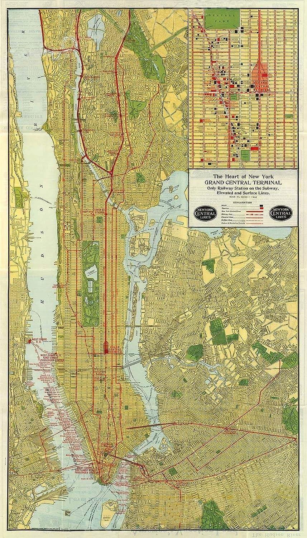 Nyc Subway Map 1950.Amazon Com Magnet 1918 Nyc Subway Art Deco Historic Manhattan Map