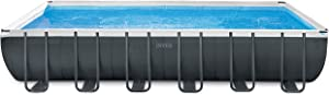 Intex 24ft X 12ft X 52in Ultra XTR Rectangular Pool Set with Sand Filter Pump, Ladder, Ground Cloth & Pool Cover