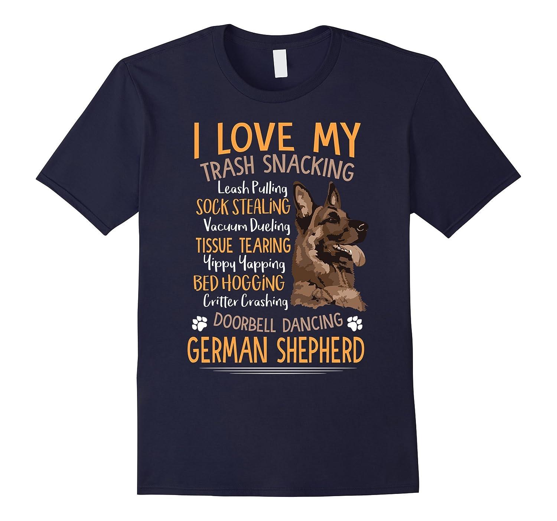 I Love My German Shepherd Shirt For Dog Lovers-BN