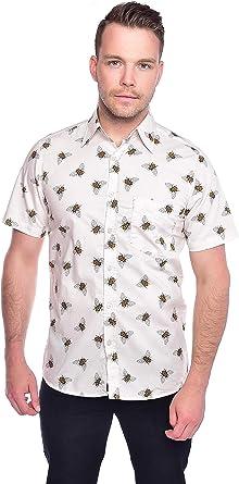 Run & Fly Hombre King Abeja Corto Camisa Manga Camisa