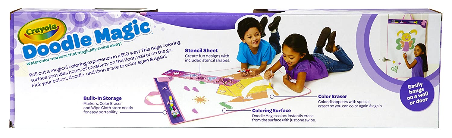 amazoncom crayola mat fairytale doodle magic color marker toys games