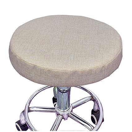 Amazoncom Nostalgico 13 Inch Soft Linen Barstool Chair Cover Round