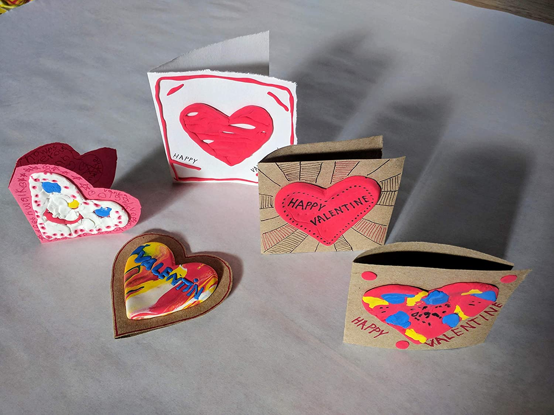 Playdough and Beads Radka Novakova Easy Craft Kit with Plaster Mold MeeMold Heart