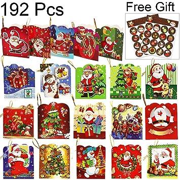 amazon com christmas gift tags zalalova 192pcs xmas present labels