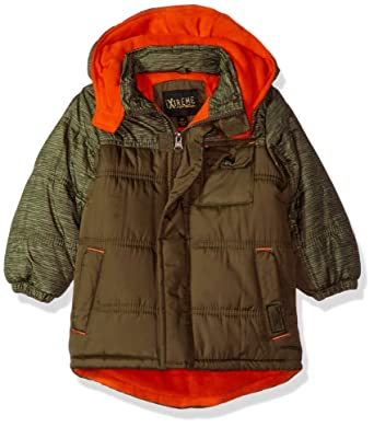 0f095a90d Amazon.com  iXtreme Boys Space Dye Print Colorblock Puffer  Clothing
