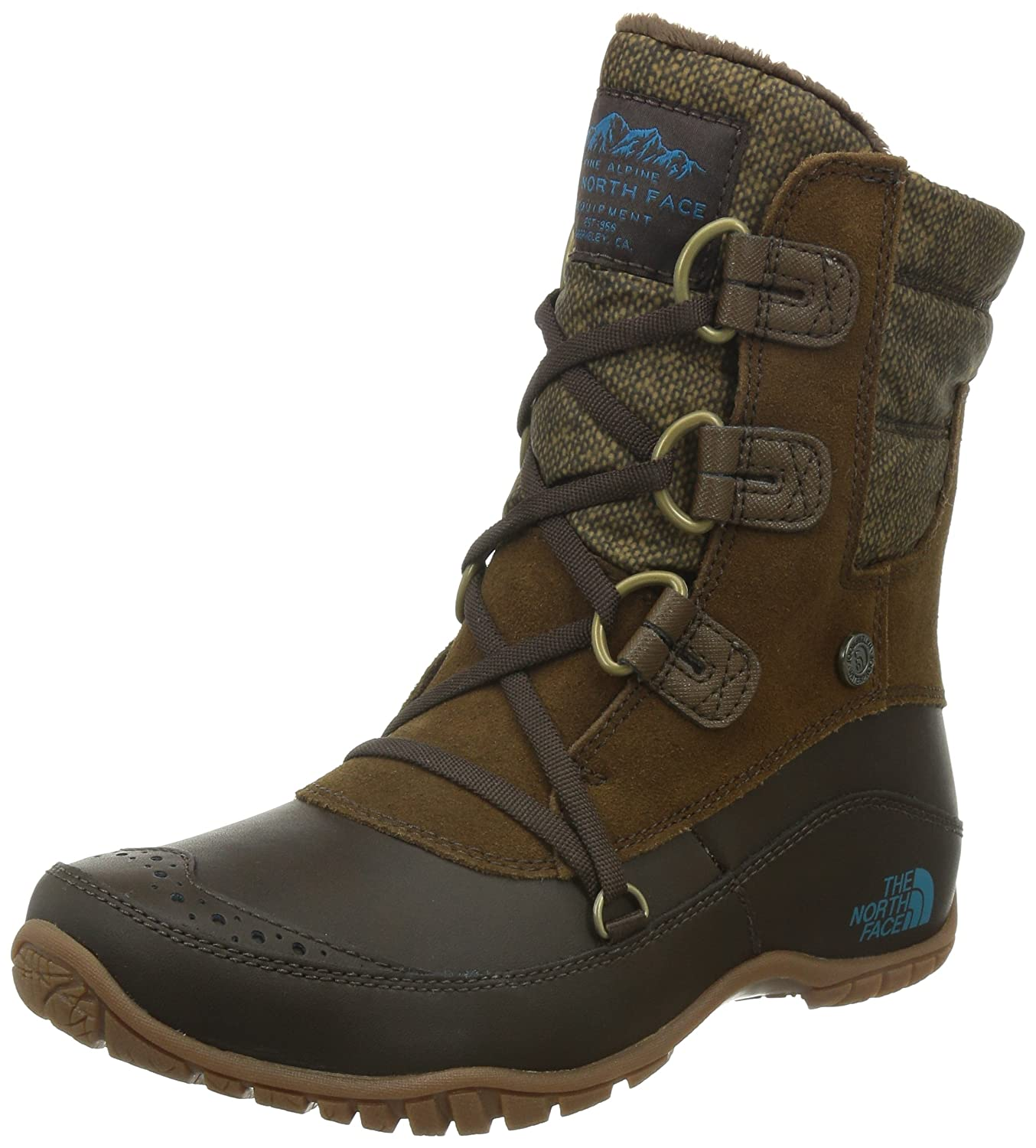 The North Face Nuptse Purna Shorty Boot Women's B00RW5NJBS 10.5 B(M) US|Desert Palm Brown/Storm Blue (Prior Season)