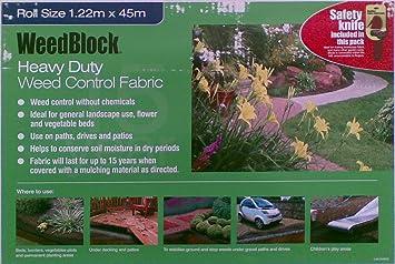 Easy Gardener Weedblock Landscape Weed Control Heavy Duty Fabric 1.22M X 45M