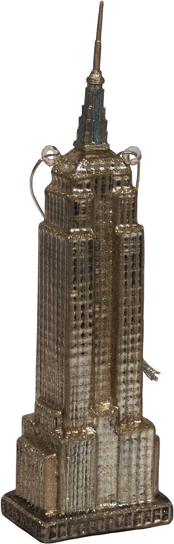 Kurt Adler Noble Gems Empire State Building Ornament, 6.5-Inch