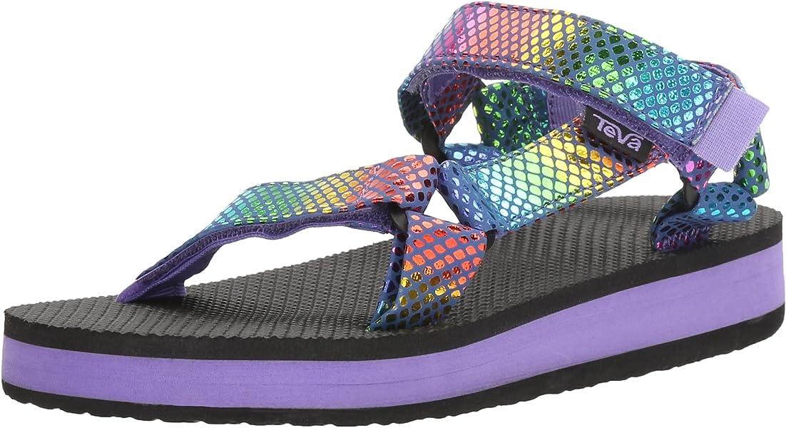 8b1299bed332 Teva Girls  HI-Rise Universal Sandal Purple Multi Snake 7 M US Big
