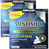 Kirkland Minoxidil for Men Hair Regrowth Treatment, Easy-to-Use Foam, 12 x 2.11Oz (12 Month Supply)