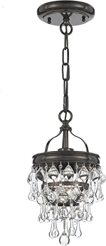 Calypso 1 Light Bronze Mini Chandelier
