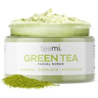 Teami Matcha Green Tea Face Scrub - Natural Face Exfoliator for All Skin Types - Organic Exfoliating Face Wash with…