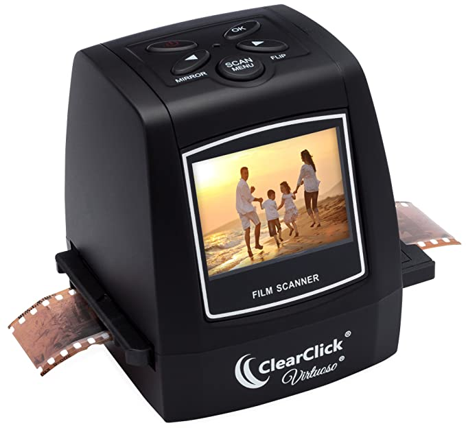 ClearClick 22MP Virtuoso Film & Slide Scanner with PhotoPad Software & 8 GB Memory Card - Convert 35mm 110 126 & Super 8 Film To Digital at amazon
