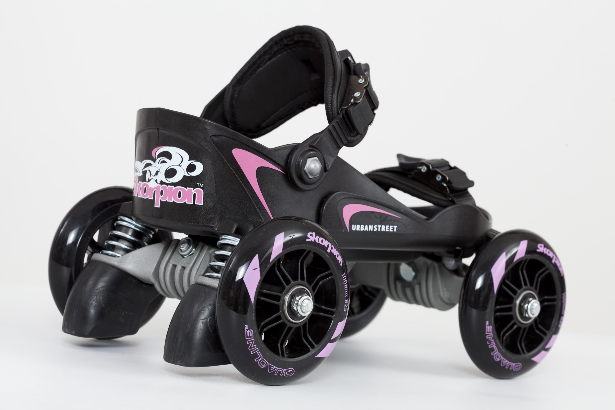 Skorpion Quadline® Street Skates - Large Pink / Black