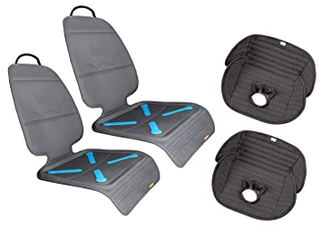 Brica Seat Guardian Car Protector Mats With Deluxe Piddle Pad Protectors
