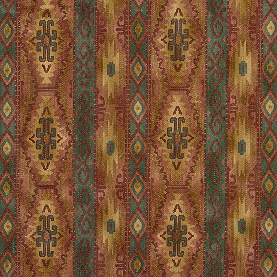 J9600H Southwestern Stripes and Diamonds Woven Decorative Novelty Upholstery Fabric by The Yard