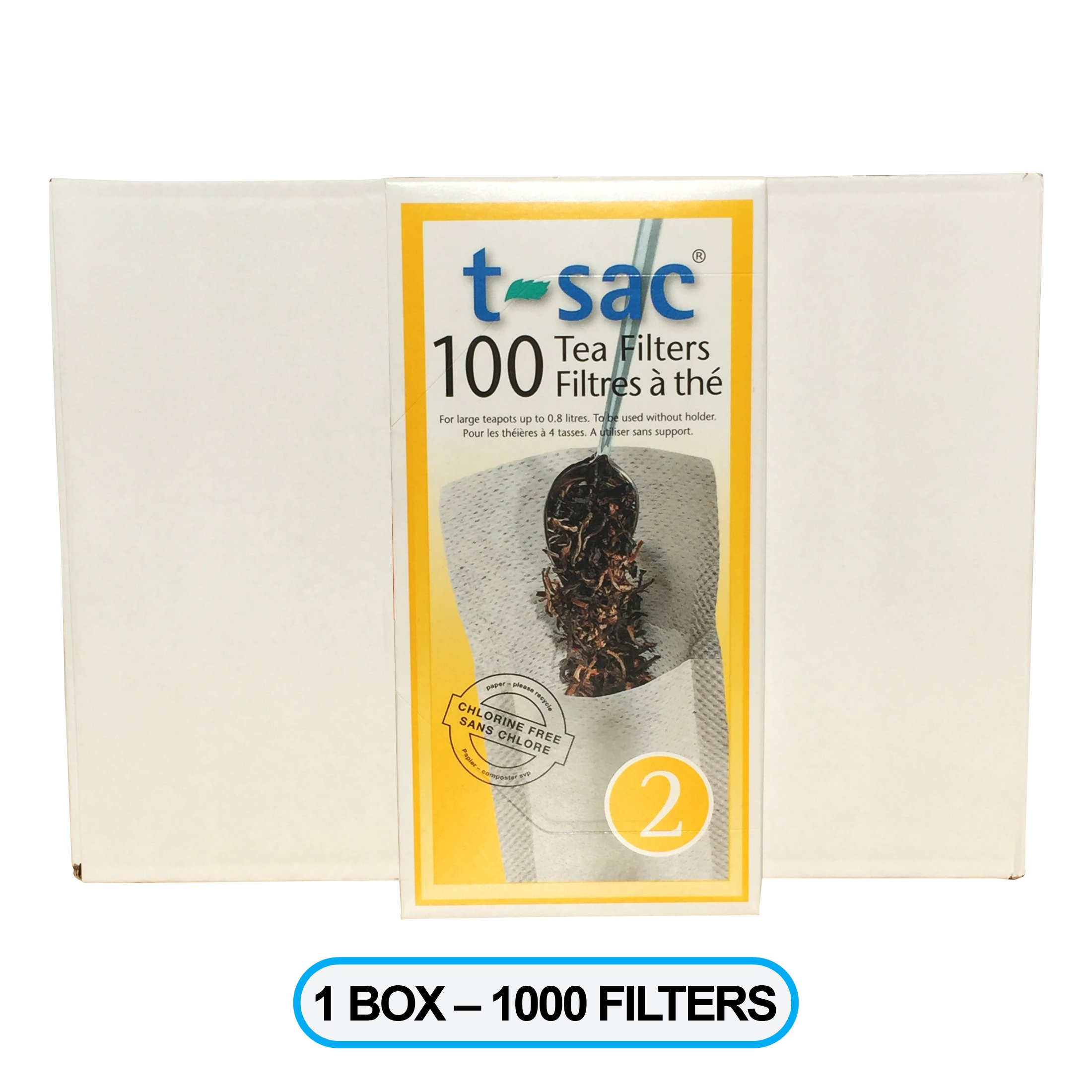 Modern Tea Filter Bags, Disposable Tea Infuser, Size 2, One Box of 1000 Filters - Heat Sealable, Natural, Easy to Use Anywhere, No Cleanup – Perfect for Teas, Coffee & Herbs - from Magic Teafit
