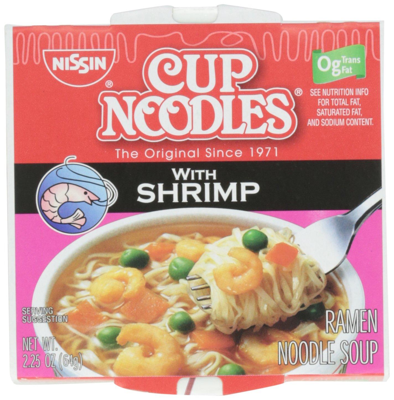 Cup Noodles Ramen Noodle Soup, with Shrimp, 2.25 oz (case of 12)