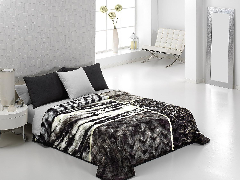 Couverture polaire Black horse couvre-lit doux tr/ès doux tissu non allergique. imprim/é 3D d/'un animal Double: 150 Cm x 200 Cm Approx.