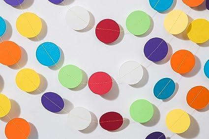 Boston Creative Company Rainbow Garland Paper Birthday Decorations Party