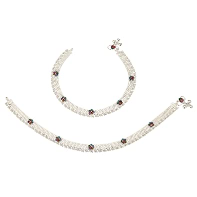 gupta dp silver pack for buy women payals of fancy anklets anklet
