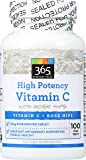 365 Everyday Value, High Potency Vitamin C with Rose Hips, 100 ct