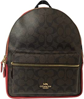 f6cd6eebf6 ... official store coach signature coated canvas medium charlie backpack  purse d222a 3cd2b