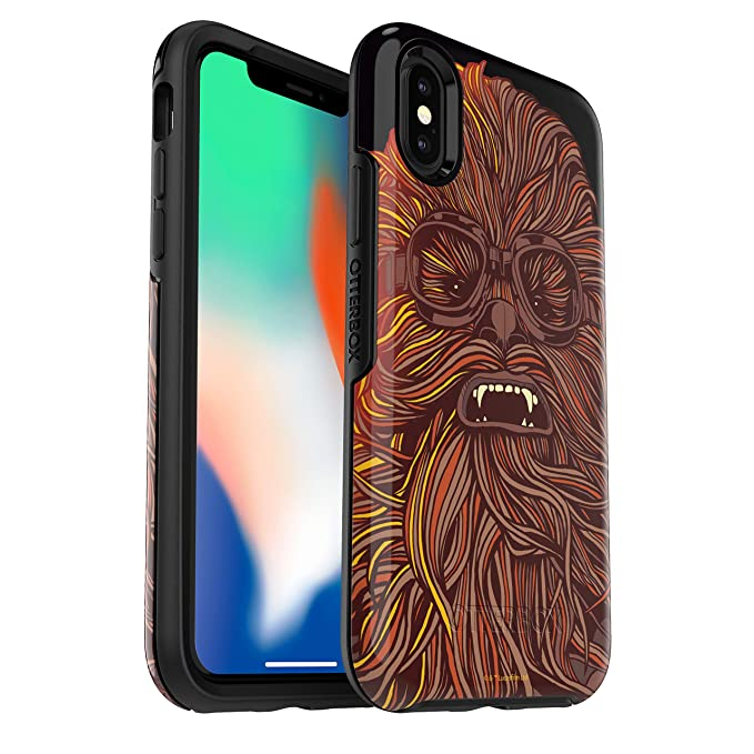 best service 63b54 33b79 OtterBox Symmetry Series Star Wars Case for iPhone Xs & iPhone X Chewbacca