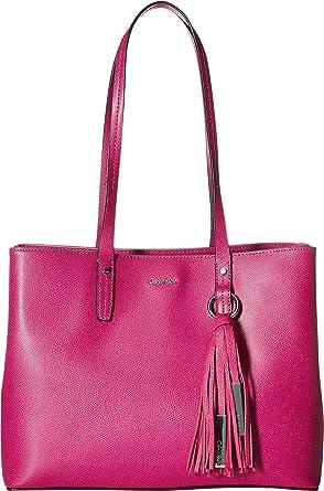 e9f25070d9 Amazon.com: Calvin Klein Women's Mercury East/West Tote Magenta One Size:  Shoes
