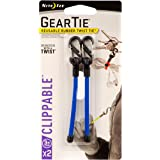 Nite Ize Gear Tie Clippable Twist Tie (Pack of 2), Blue