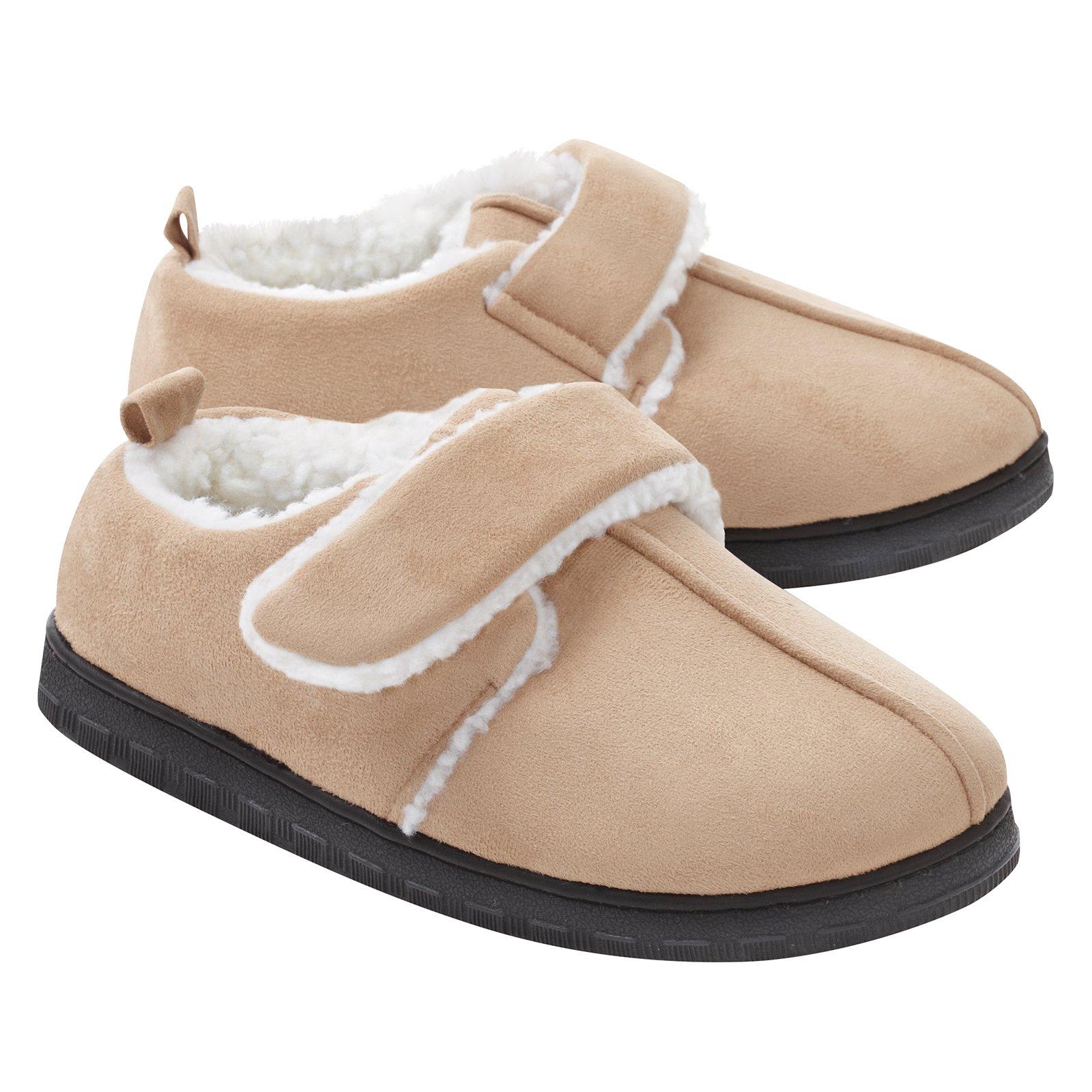 Best Friend Adjustable Slippers, Ladies S (5-6), Tan