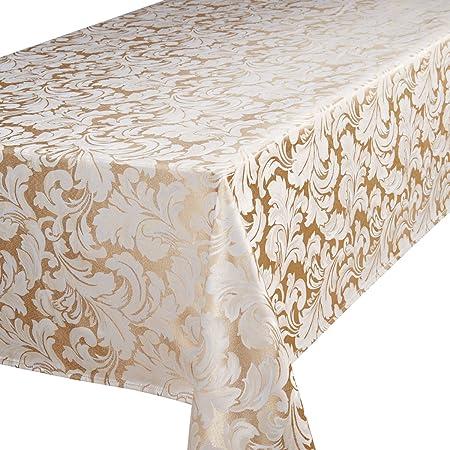 Premier 52 X 70 Inch Cadiz Oblong (Rectangular) Tablecloth, Champagne
